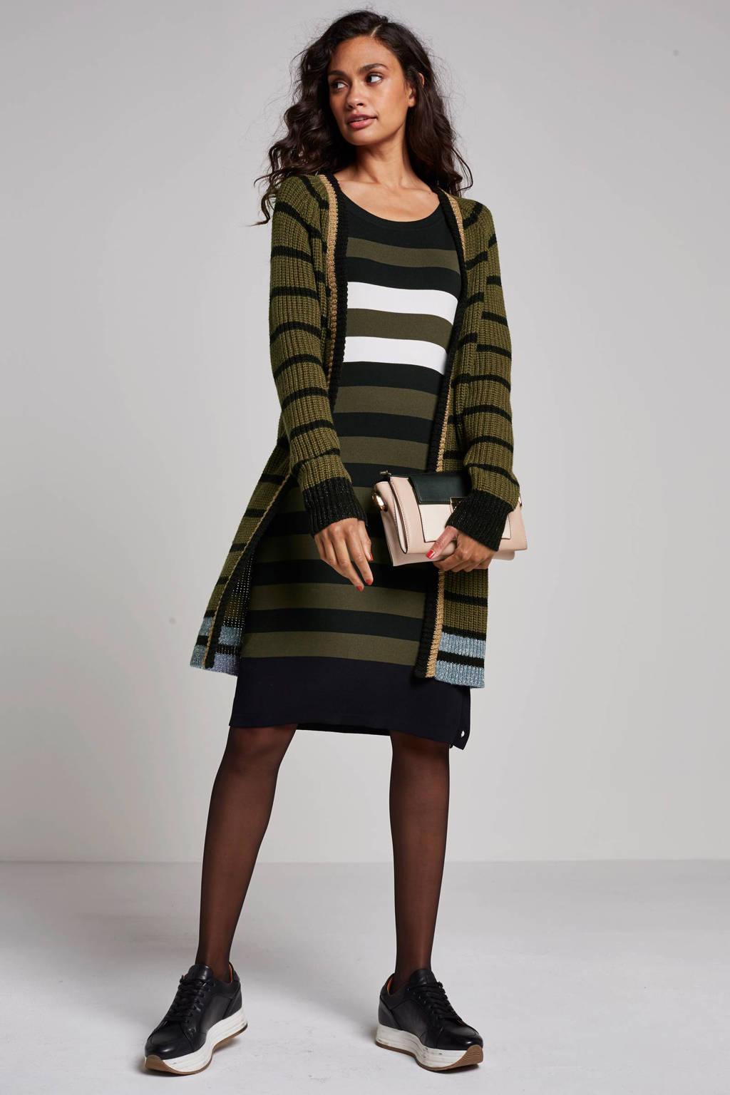 Geisha vest, Groen/zwart