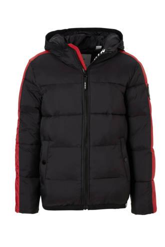 winterjas Elwood zwart/rood