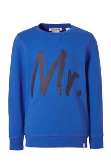 sweater George met tekst blauw
