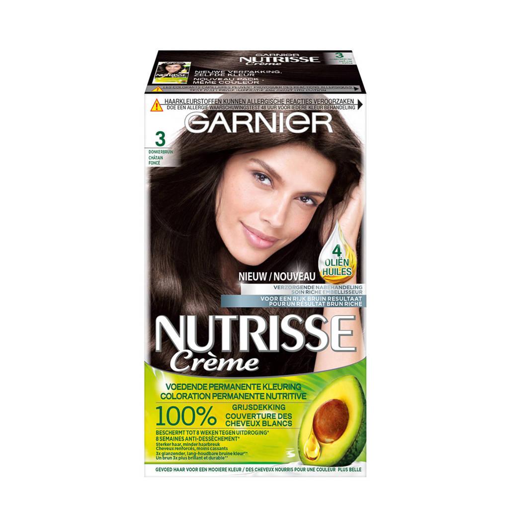 Garnier Nutrisse Crème haarkleuring - 3 Donkerbruin