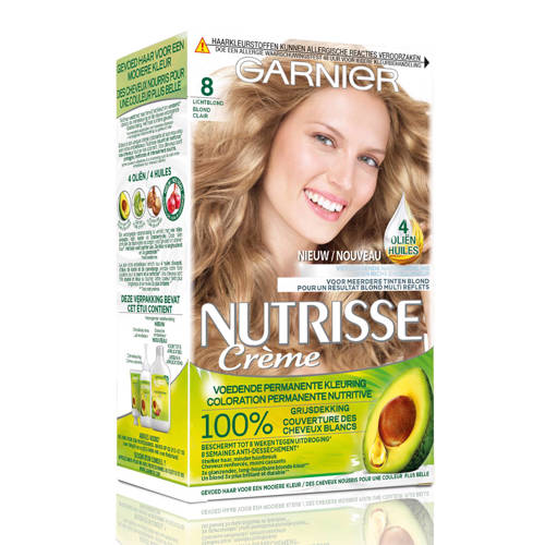 Garnier Nutrisse Permanente Kleuring 080 Licht Natuurlijk Blond Stuk
