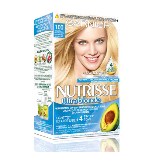 Garnier Nutrisse Permanente Kleuring 100 Zeer Zeer Licht Natuurlijk Blond Stuk