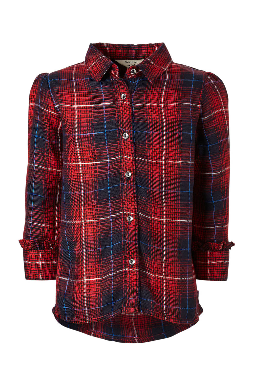 River Island geruite blouse, Rood/blauw/wit