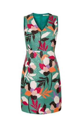 jurk met all-over print groen