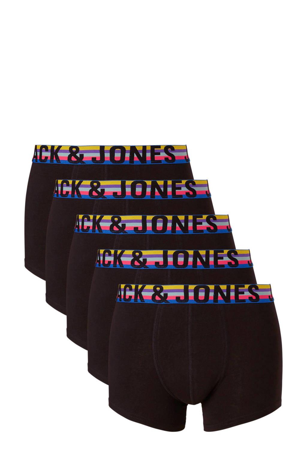 JACK & JONES boxershort (set van 5), Zwart