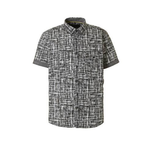 regular fit overhemd met all-over print grijs