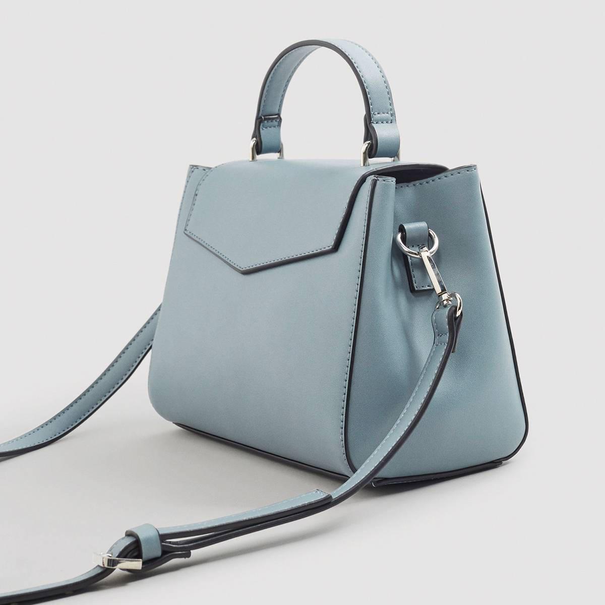 lichtblauwe handtas