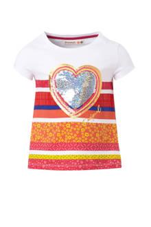 T-shirt met omkeerbare pailletten