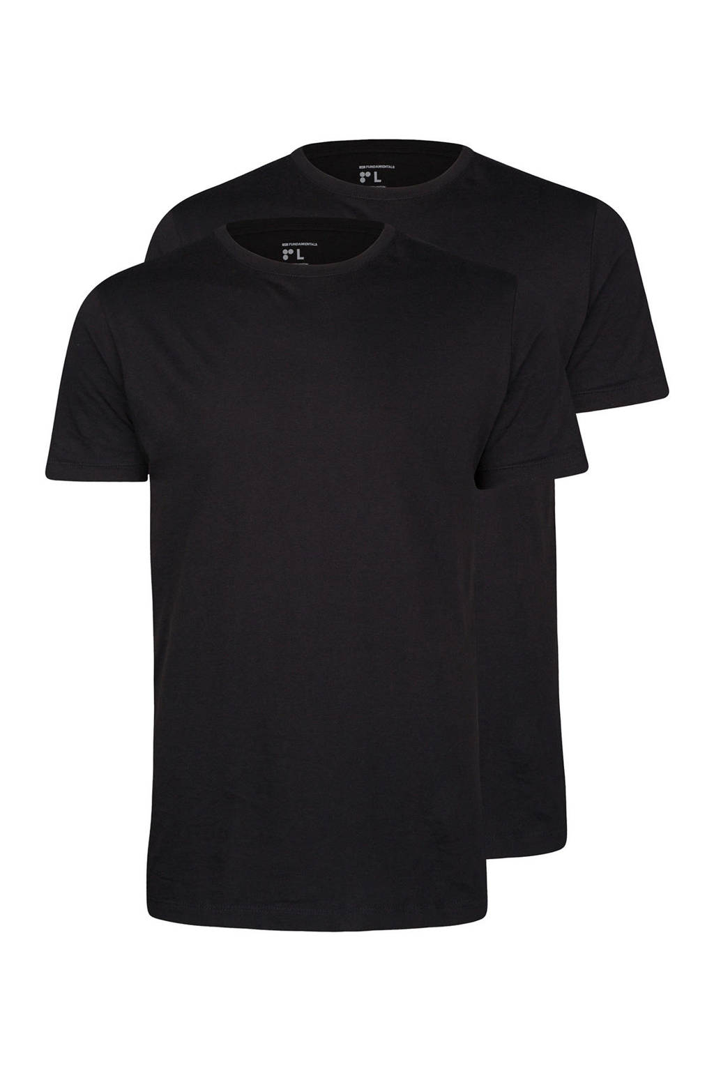 WE Fashion T-shirt (set van 2), Zwart