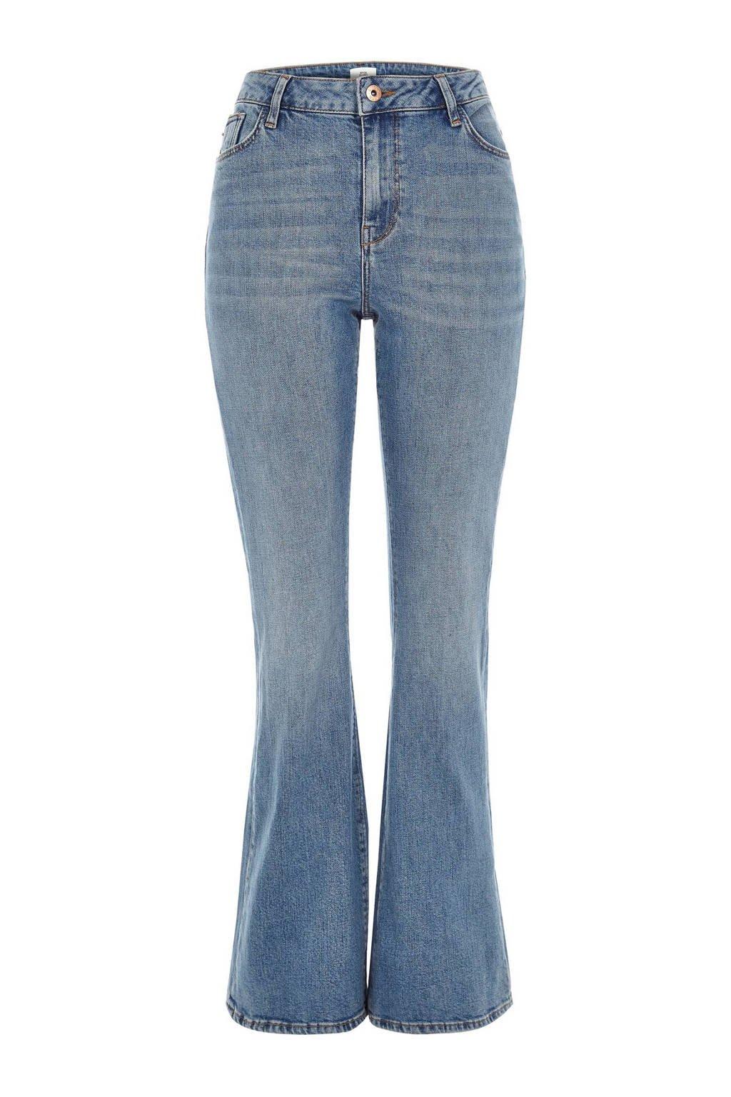 River Island high waist flared jeans, Lichtblauw
