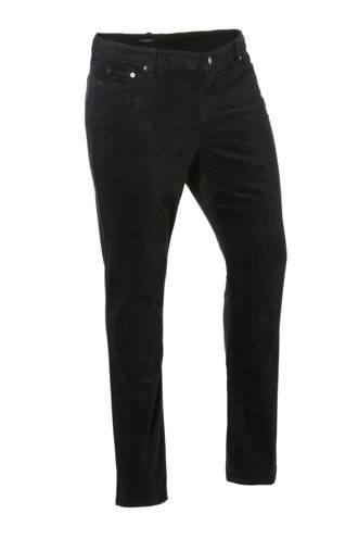 straight fit corduroy broek