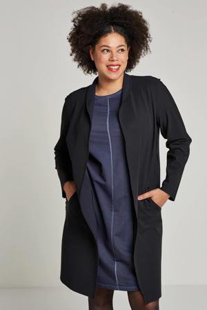 reversible vest van travelstof zwart/donkerblauw