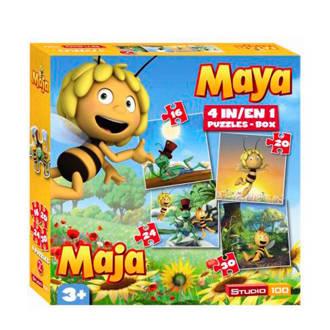 Maya de Bij 4-in-1  legpuzzel 90 stukjes