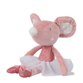 balletmuis roze knuffel 27 cm