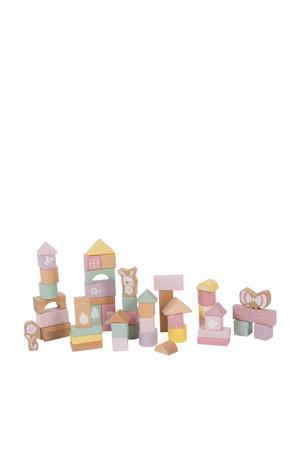 houten blokken roze 50 stuks