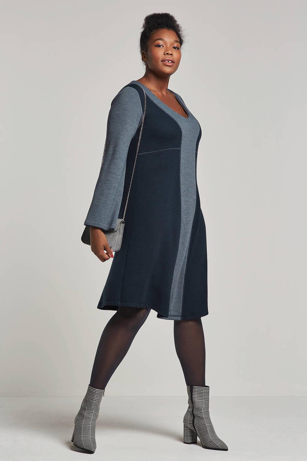 La Stampa jurk, Donkerblauw/blauw
