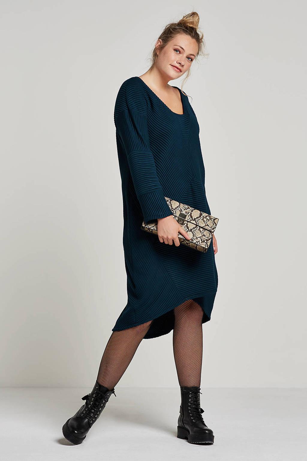 La Stampa jurk, Donkerblauw
