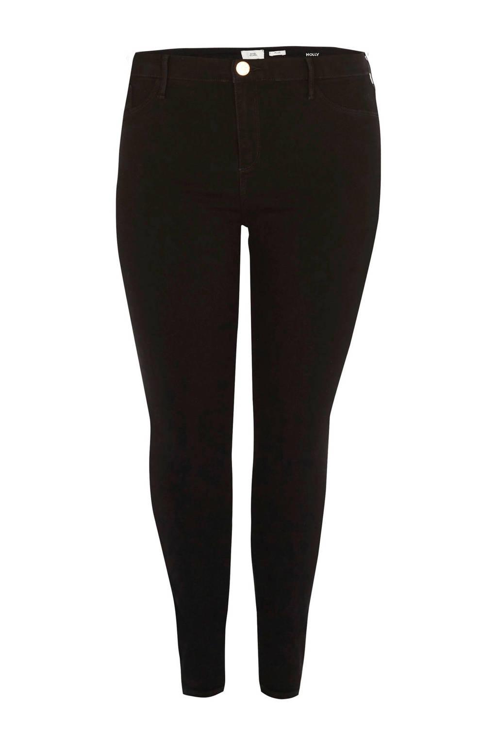 River Island Plus Molly skinny fit jeans, Zwart