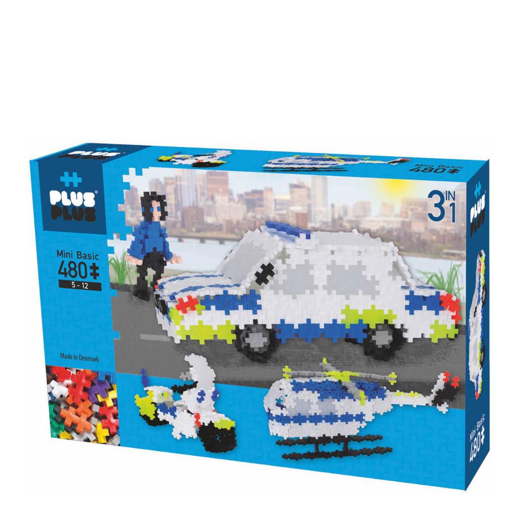Plus-Plus  mini basic police 3-in-1 480 stuks