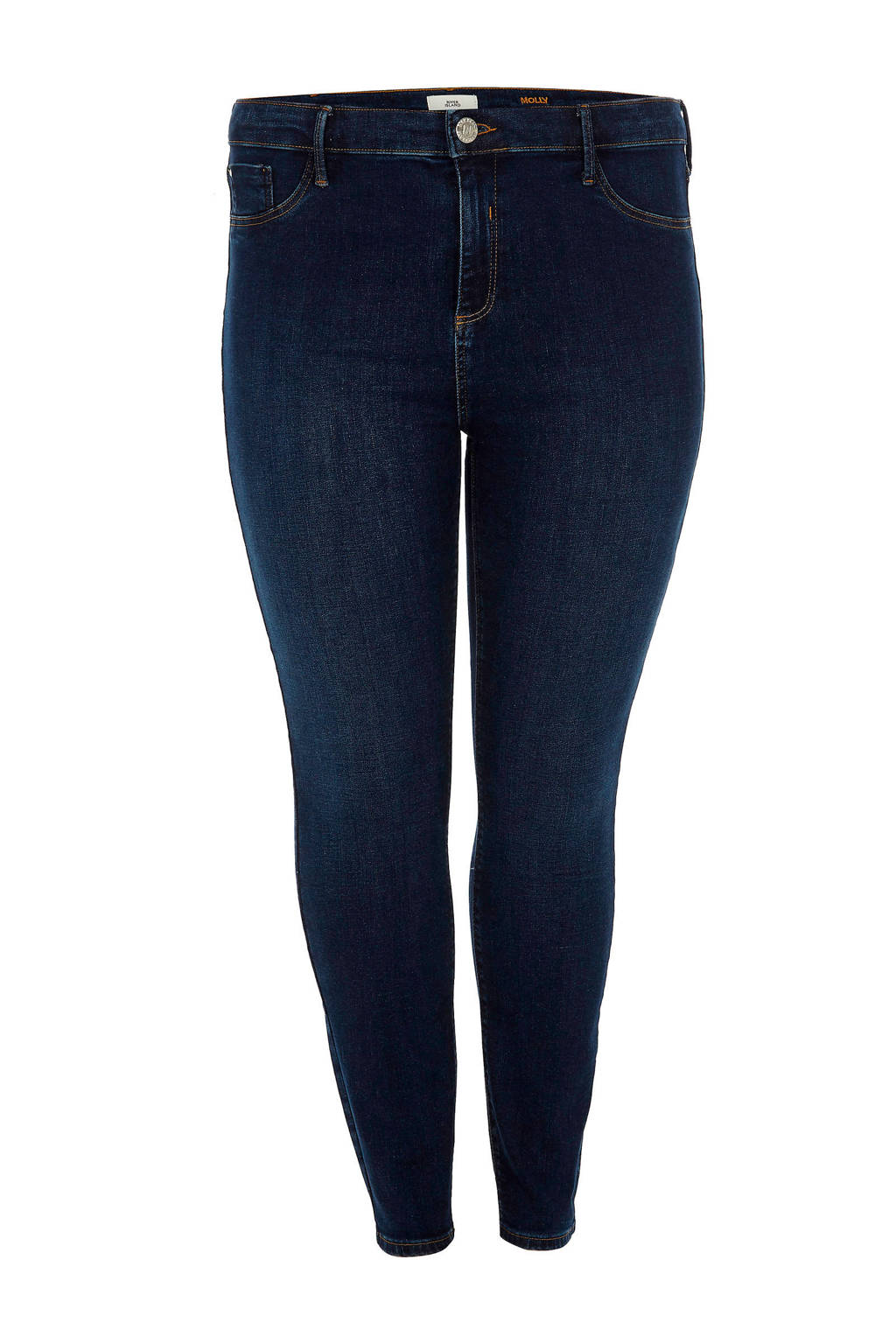 River Island Plus super skinny jegging Molly, Donkerblauw
