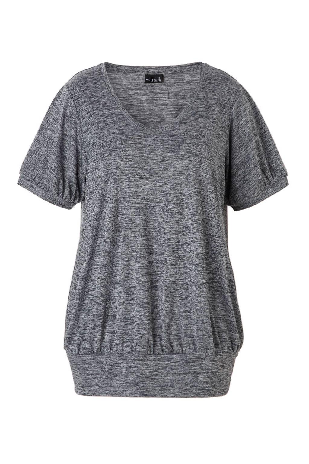 ACTIVE By Zizzi sport T-shirt antraciet melange, Antraciet melange