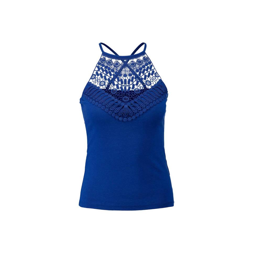 Top Met Crochette Donkerblauw by Wehkamp