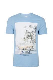 WE Fashion T-shirt met print  blauw