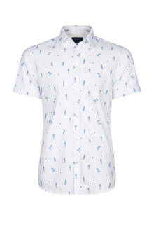 slim fit overhemd all over print wit