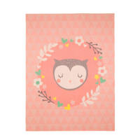 Mood collection Slaapy Owl vloerkleed  (125x95 cm), Perzik
