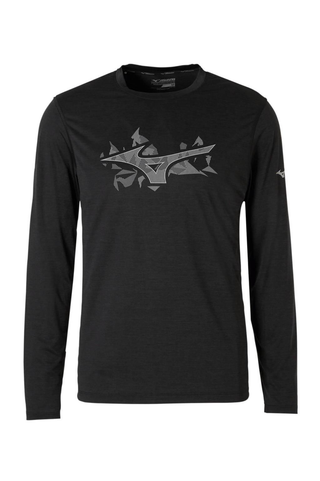 Mizuno   sport T-shirt zwart, Zwart