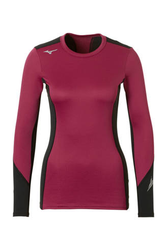 sportshirt thermo donkerrood