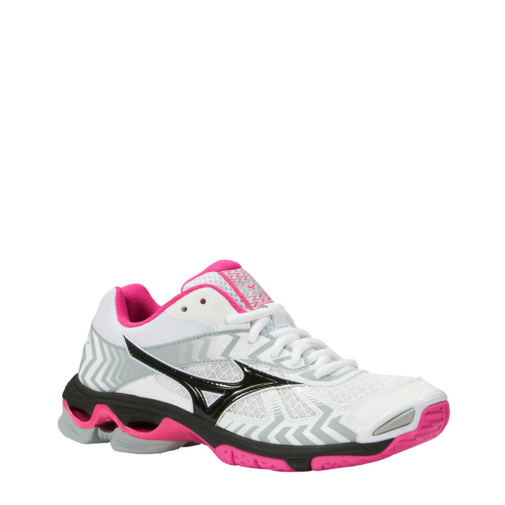 Mizuno Wave Bolt 7 indoor sportschoenen wit roze  9986260cbf