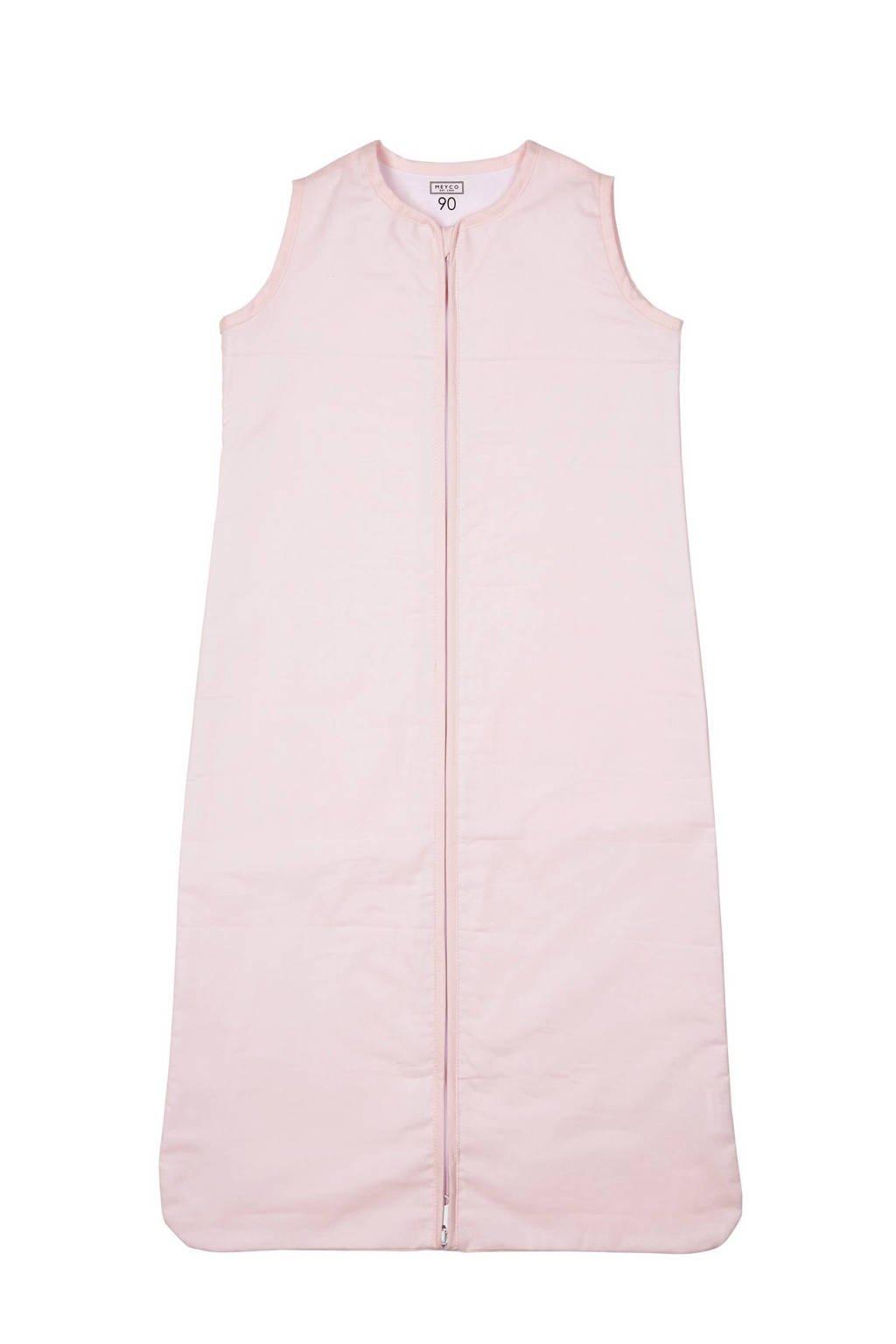 Meyco Uni baby slaapzak zomer 110 cm lichtroze, Roze