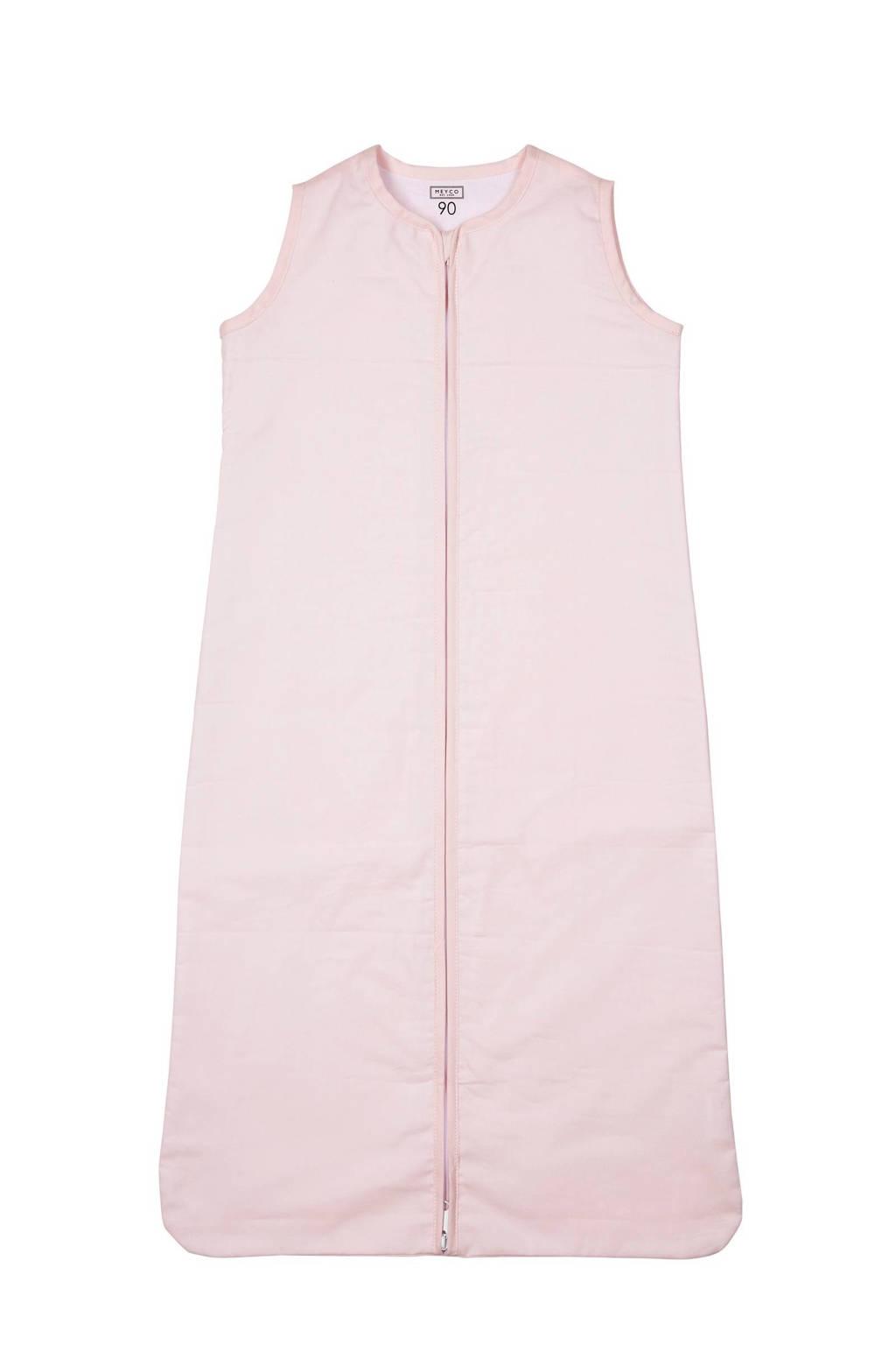 Meyco Uni baby slaapzak zomer 70 cm lichtroze, Roze