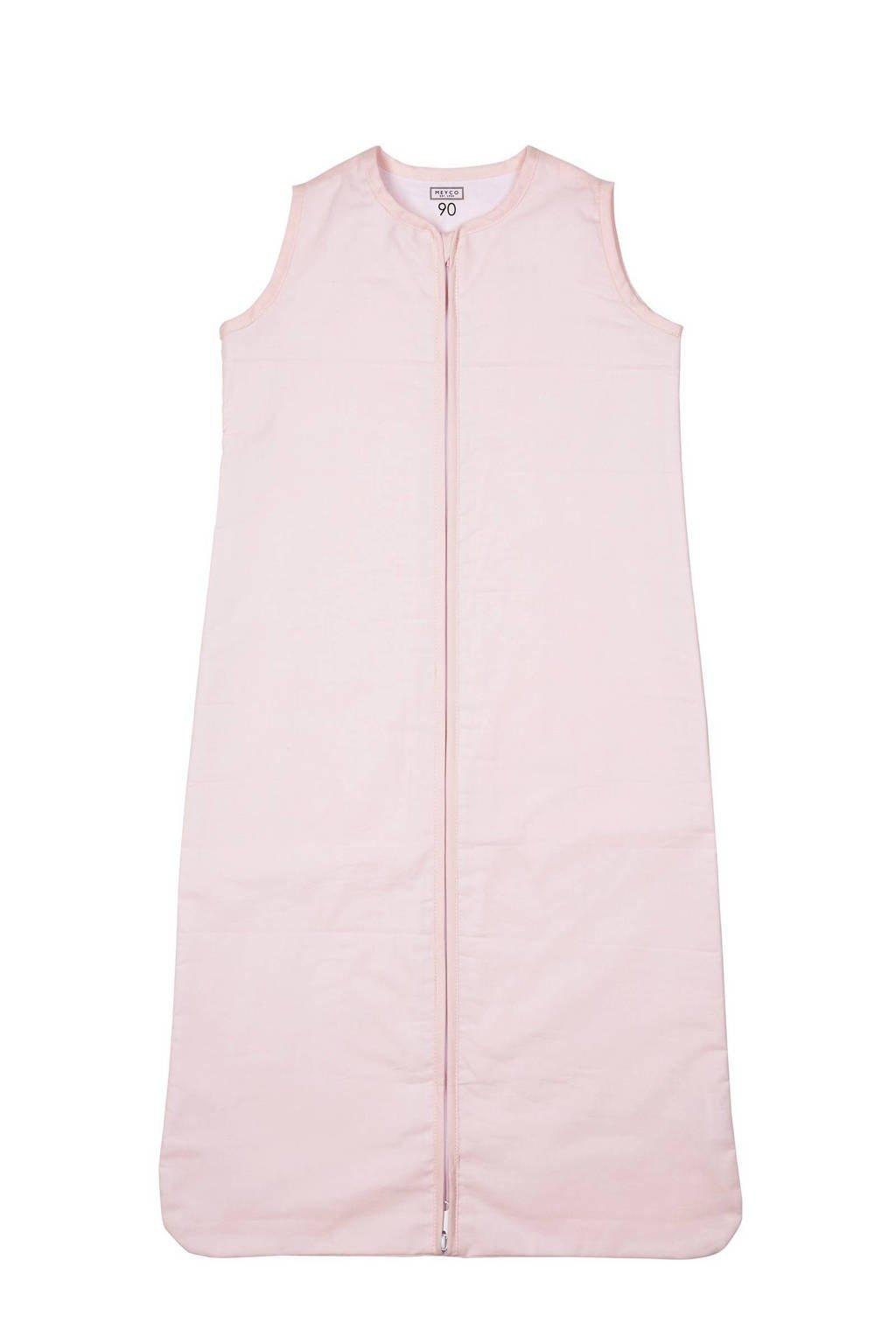 Meyco Uni baby slaapzak zomer 90 cm lichtroze, Roze