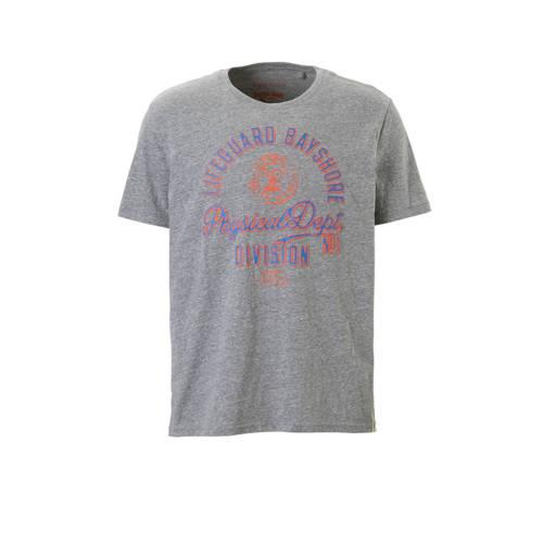 T-shirt met tekst grijs