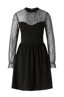 jurk met mesh en glitters