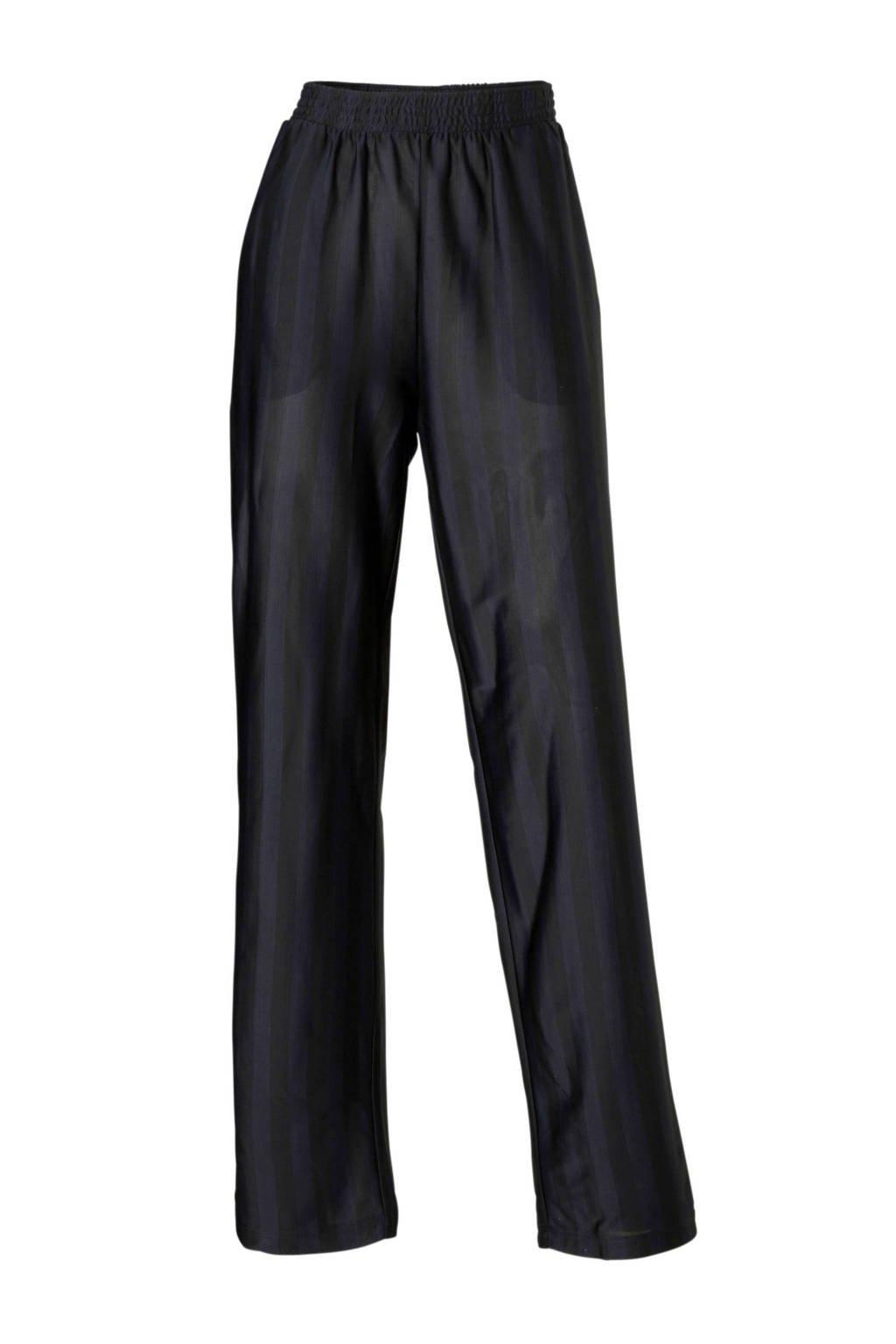 JACQUELINE DE YONG gestreepte broek, Zwart/blauw