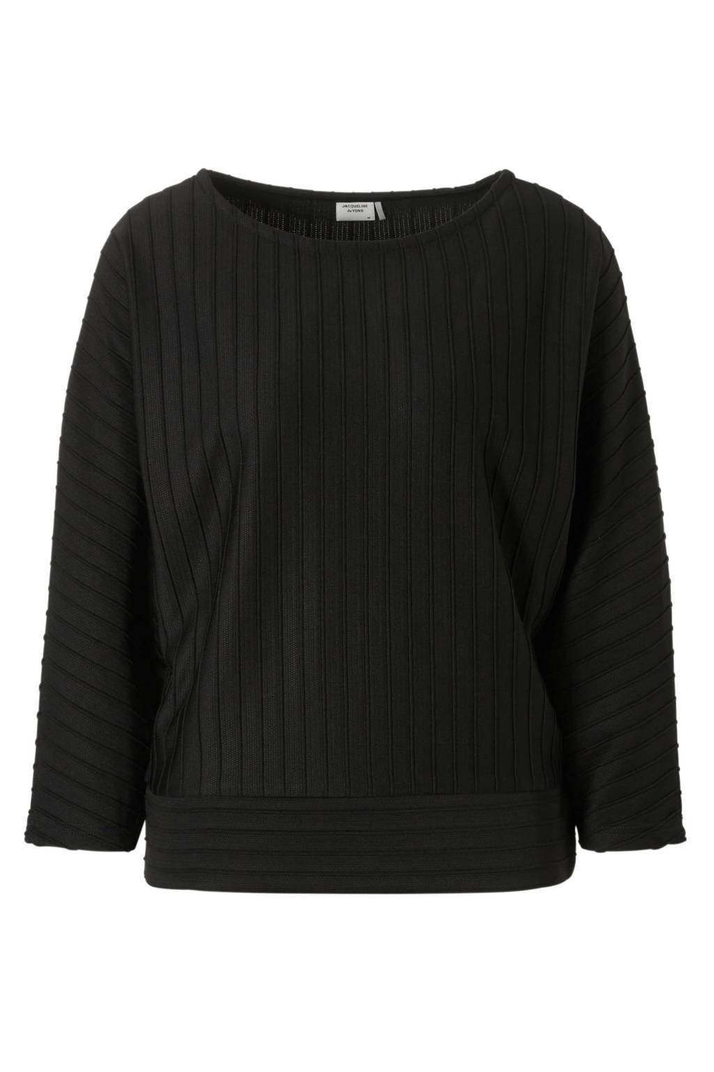 JACQUELINE DE YONG trui, Zwart