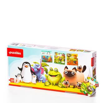 vrolijke dieren  vloerpuzzel 50 stukjes