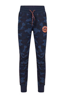 WE Fashion regular fit sweatpants donkerblauw