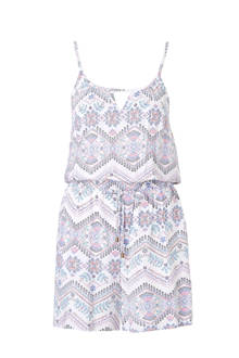 Yessica playsuit met all-over print wit