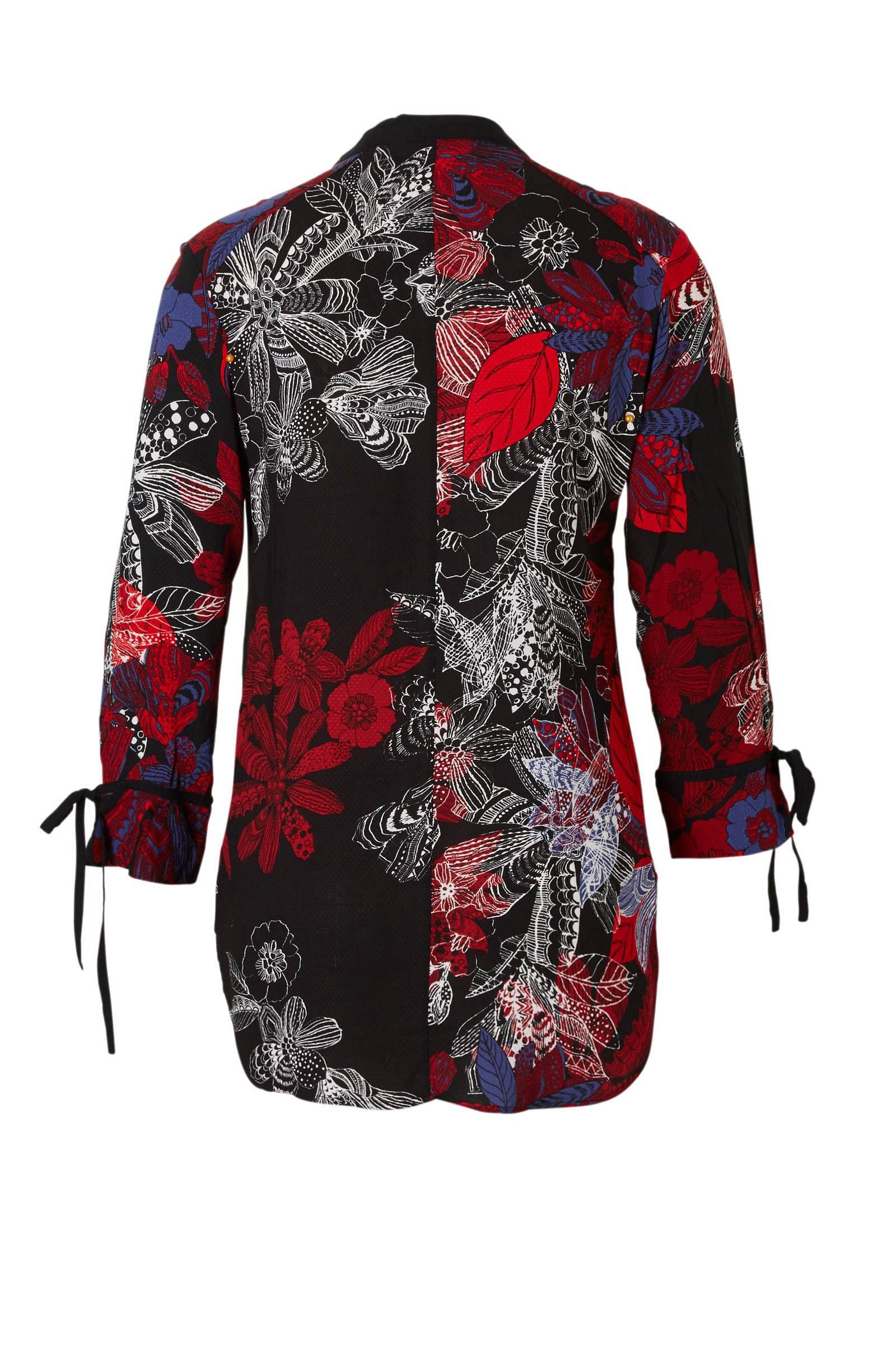 Desigual met Desigual blouse met met blouse Desigual zwart zwart blouse print print rwrqaB