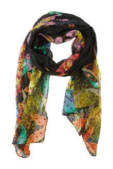 sjaal/pareo met bloemenprint