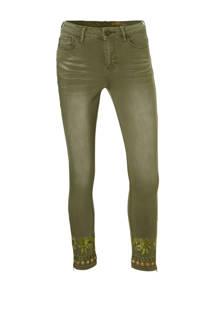 Desigual skinny fit jeans groen (dames)