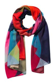 sjaal/pareo met all-over print