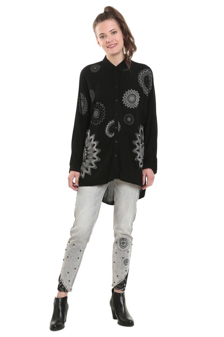 lange blouse zwart blouse Desigual zwart lange Desigual Z5X5B1wq