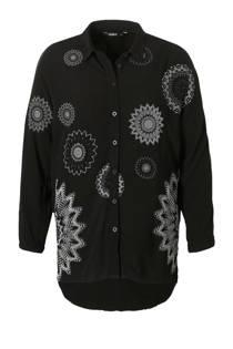 Desigual lange blouse zwart (dames)