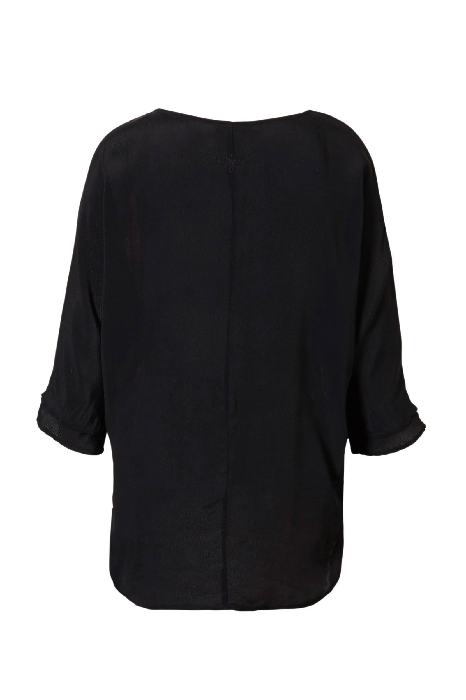 met met blouse bloemenprint blouse blouse met Desigual bloemenprint Desigual Desigual qCUwPx8x