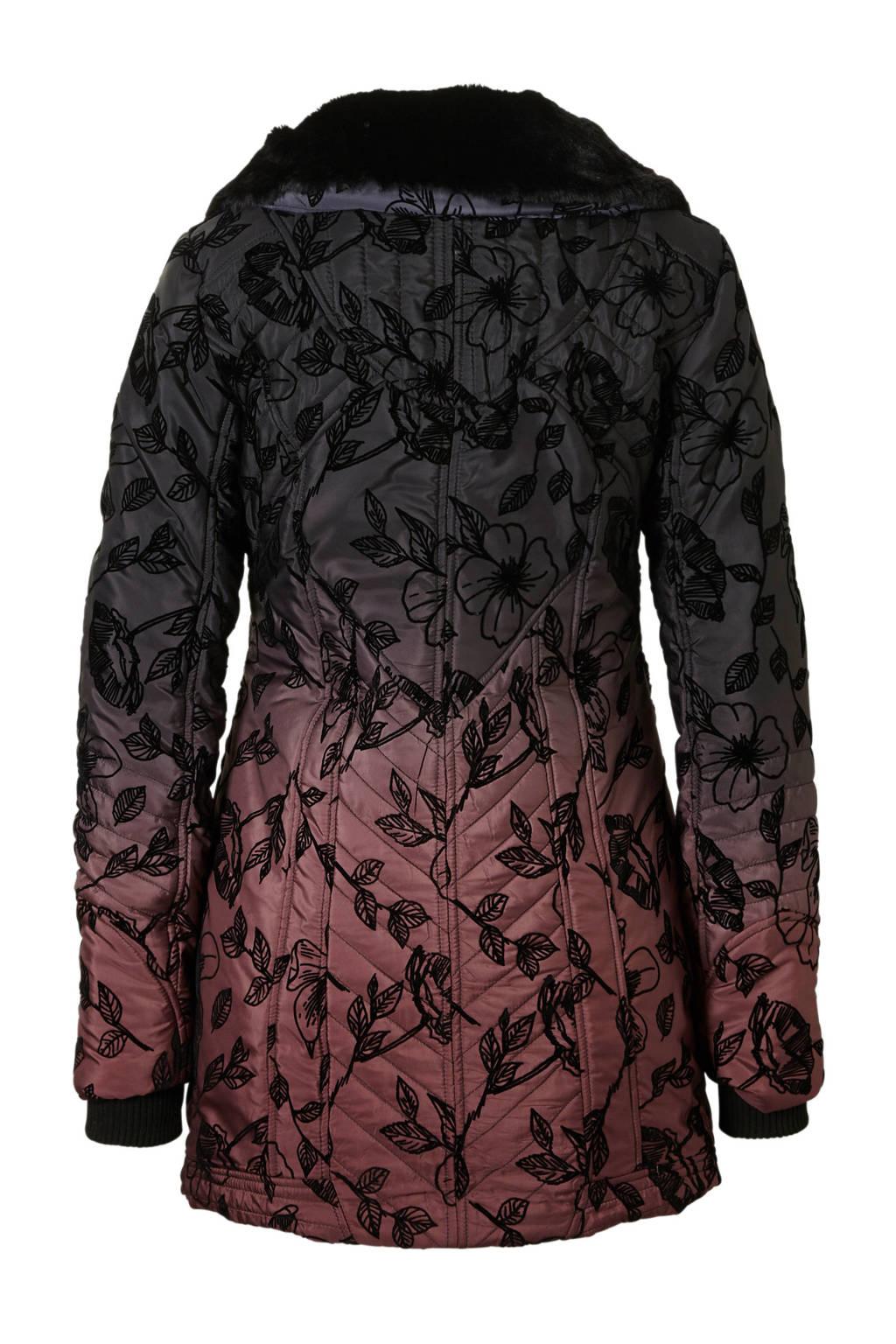 Verwonderlijk Desigual gewatteerde winterjas met flock print | wehkamp KB-43